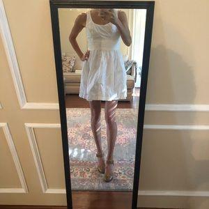 Simple white eyelet dress size 2